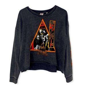 By Junkfood Def Leppard cropped sweatshirt